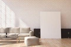 Gray sofa and poster Stock Photo