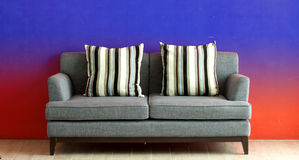 Gray sofa Stock Image