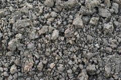 Gray soil, soil clod, soil lump background. Background from gray, dry soil lump Stock Photos