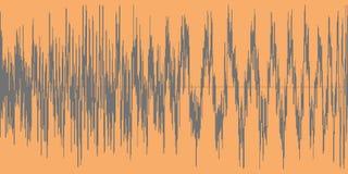 Gray sound wave on a orange background. Stock Photos
