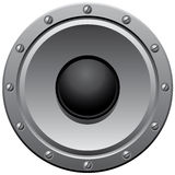Gray speaker Stock Photography