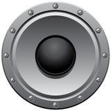Gray speaker. Vektor gray speaker with screws royalty free illustration