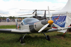 Gray sports aircraft of the Czech company BRM Aero Bristell at t Stock Photography
