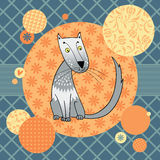 Gray spotty cat Royalty Free Stock Photography