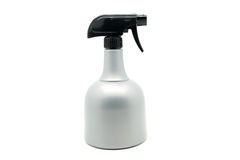 Gray spray bottle isolated. On white background Royalty Free Stock Images