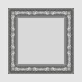 Gray square frame Stock Image