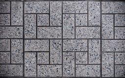Gray Square Paved mit kleinen quadratischen Ecken und Gray Rectangles Nahtlose Tileable Beschaffenheit Stockfoto