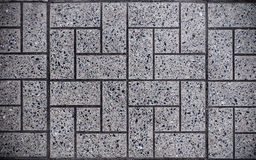Gray Square Paved with Small Square Corners and Gray Rectangles. Seamless Tileable Texture.  stock photo