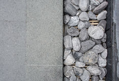 Gray Square Pavement with gravel Royalty Free Stock Photos