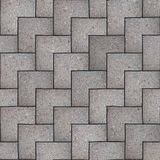 Gray Square Pavement. Seamless Tileable Texture. Royalty Free Stock Images