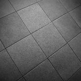 Gray Square Tile Floor Royalty Free Stock Photography