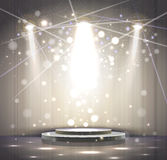 Gray stage Royalty Free Stock Photos