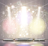 Gray stage Royalty Free Stock Images