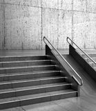 Gray stairs in front of the wall. 3d. Illustration Royalty Free Stock Photography