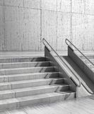 Gray stairs in front of the wall. 3d illustration Royalty Free Stock Images