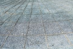 Gray stamped concrete flooring texture perspective line.  Royalty Free Stock Image