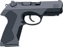Gray Standard Gun. Standard gray hand gun illustration in vector stock illustration