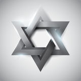 Gray star of David Stock Photos