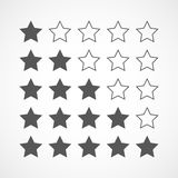 Gray stars rating. Vector illustration. Royalty Free Stock Photos