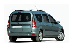 Gray station wagon Stock Images