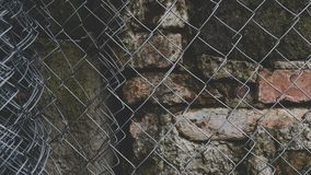 Gray Steel Chained Link Fence Stock Photography