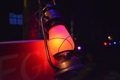 Gray Steel Kerosene Lamp Stock Photography