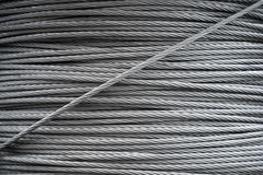 Steel rope background texture Royalty Free Stock Image
