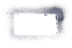 Gray stencil frame Royalty Free Stock Photography