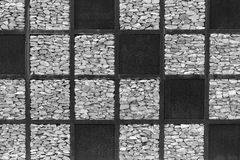 Gray stone  and artificial grass backdrop for background Royalty Free Stock Photo