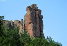 Gray stone cliff and rock in Beogradchik, Bulgaria Stock Photos