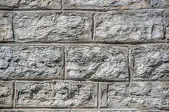 The gray stone fortress wall. Royalty Free Stock Photo