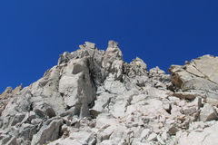 Gray stone rocky mountain royalty free stock images