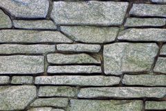 Gray stone texture of stone and rubble Royalty Free Stock Photography