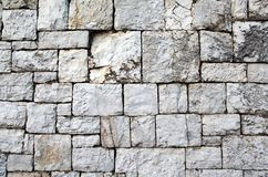 Gray stone wall Royalty Free Stock Photos
