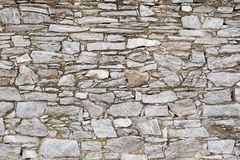 Gray stone wall Royalty Free Stock Images