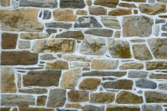 Gray stone wall Stock Photography