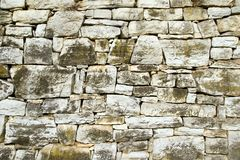 Gray stone wall Stock Images