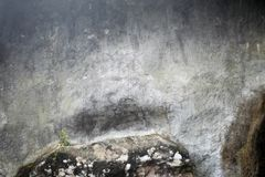 Gray stone wall background in cave stock photo
