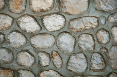 Gray stone wall, grunge background Royalty Free Stock Photo