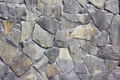 Gray stone walls. Close up view from the front royalty free stock photos