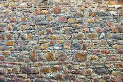 Gray stones of medieval wall Royalty Free Stock Image