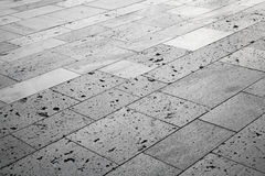 Gray stones, urban road tiling. Background texture Stock Photography