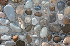 Gray stones wall background Stock Photo