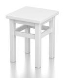 Gray stool  on white Royalty Free Stock Photos