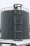 Gray storage tank with stairs Stock Image