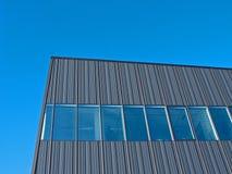 Gray striped facade. Royalty Free Stock Photography
