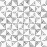 Gray striped rotated triangles Stock Images