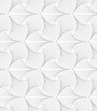 Gray striped shapes resembling pointy trefoil Stock Image