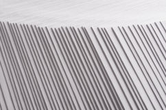 Gray striped stepped abstract texture with contrast border. Stock Photos