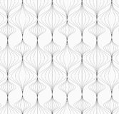 Gray striped vertical Chinese lanterns Royalty Free Stock Photos